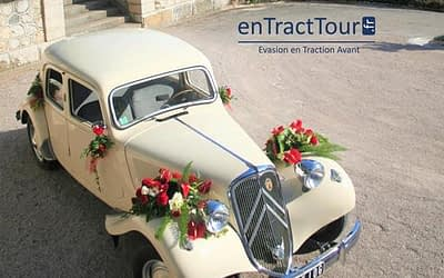 Décorer sa voiture de mariage avec des ventouses de fleurs
